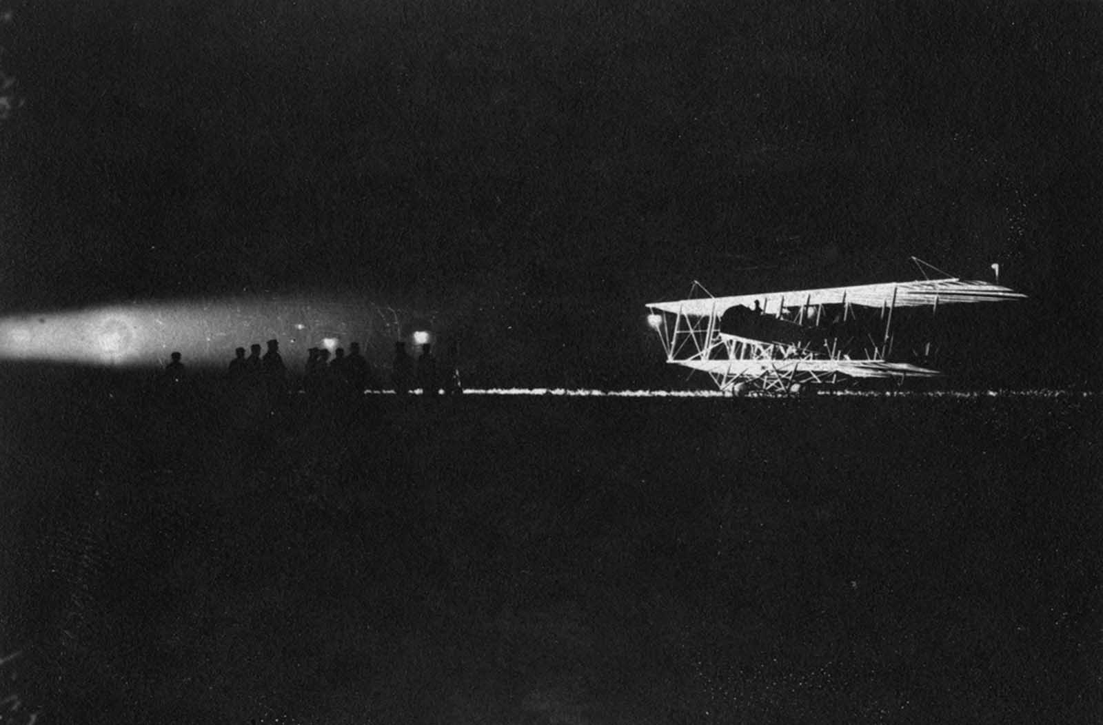 Night Flight at Le Bourget, France.