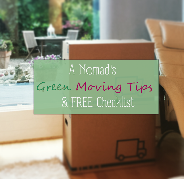 My personal tips for an eco-friendly moving, and a free checklist