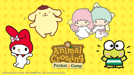 Sanrio Character Items in Animal Crossing: Pocket Camp for a Limited Time