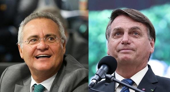 Apoiadores de Bolsonaro lançam campanha no Twitter contra o senador Renan Calheiros