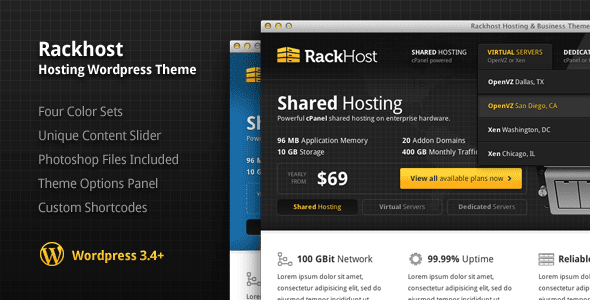 Rackhost Hosting WordPress Theme Free Download