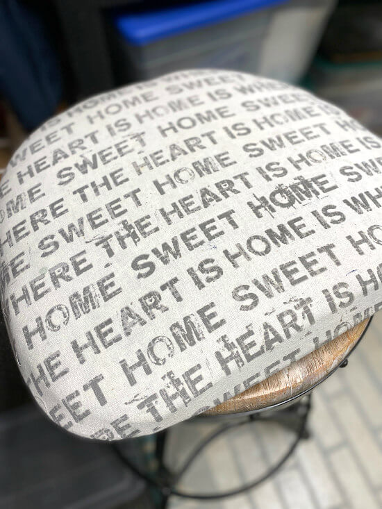 grey printed chair pad