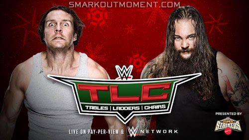 WWE TLC 2014 spoilers Ambrose vs Wyatt Tables Ladders Chairs match
