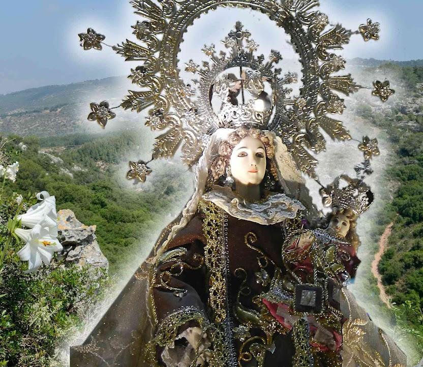 Nossa Senhora do Carmo, Filipinas. Fundo: Monte Carmelo