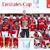 Kalah Tapi Menang, Para Pemain Arsenal Angkat Trofi Emirates Cup 2017 Dengan Wajah Muram