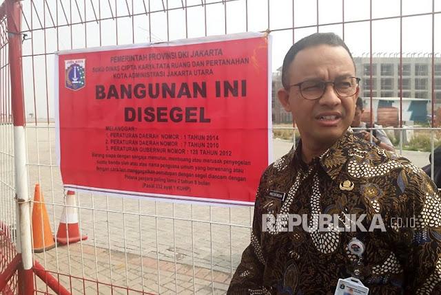 Saksikan Penyegelan, Anies Pilih Pakai Batik Motif Naga