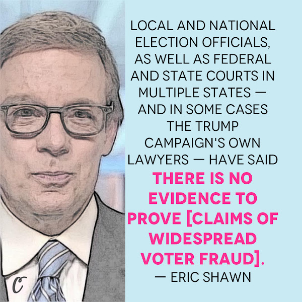 Local and national election officials, as well as federal and state courts in multiple states — and in some cases the Trump campaign's own lawyers — have said there is no evidence to prove [claims of widespread voter fraud]. — Eric Shawn, Fox News host
