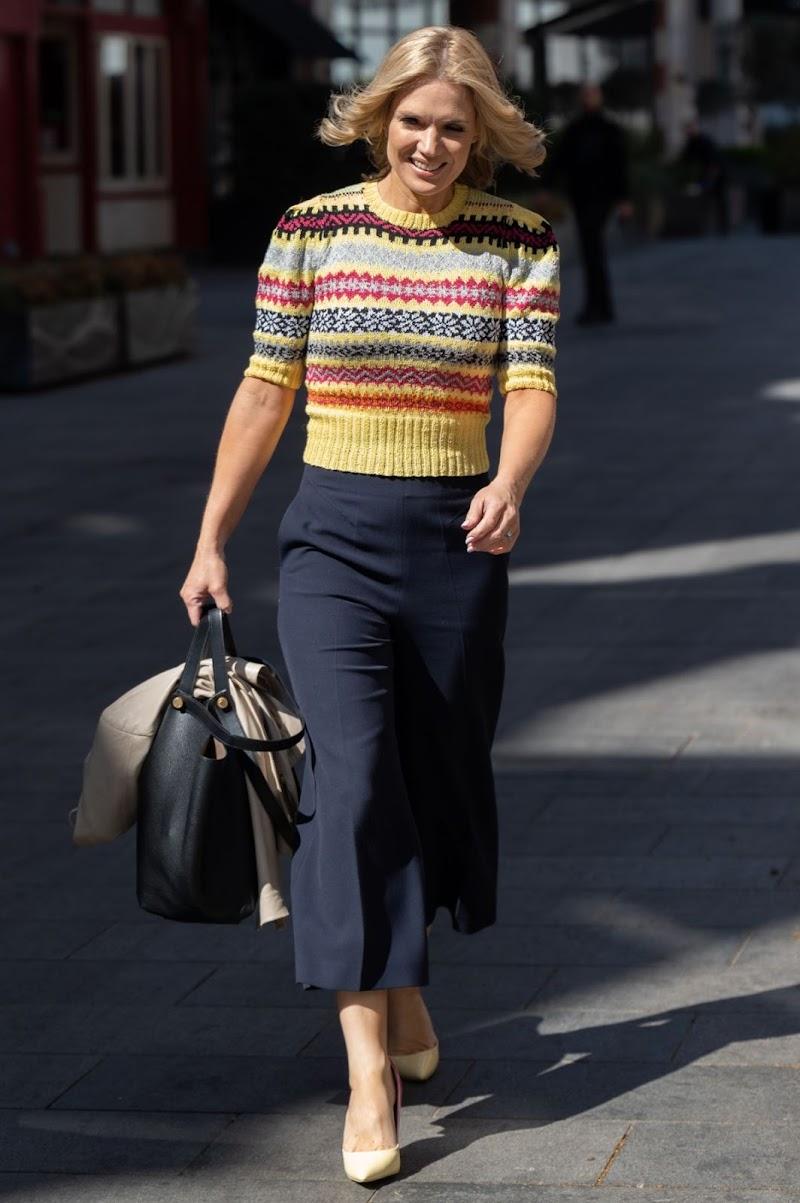 Charlotte Hawkins Spotted While Leaving Global Studios in London 23 Apr-2021