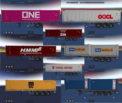 Shipping Container Cargo Pack + AI Traffic v2.2 by Satyanwesi ETS21.37-1.38