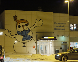 Arctic road trip journey - winter holiday in norway - bardufoss airport