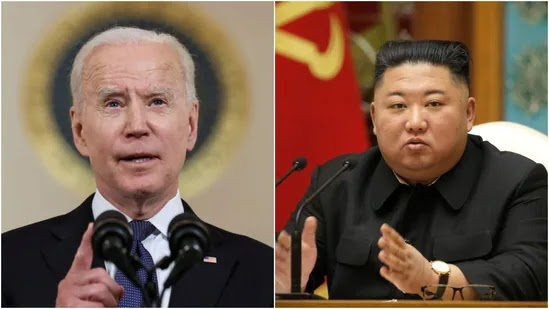 American President Joe Biden and Kim Jong Un of North Korea