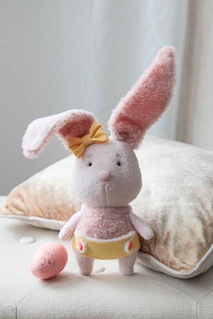 Easter diy Fabric bunny plush toy for babies