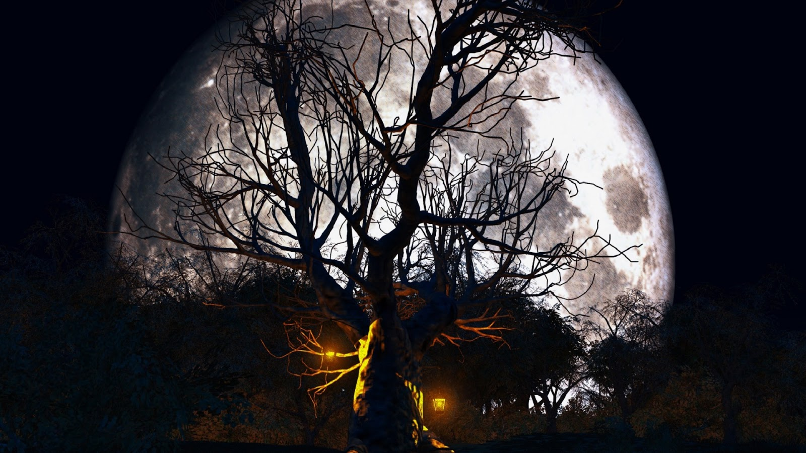 halloween moon wallpaper - photo #13