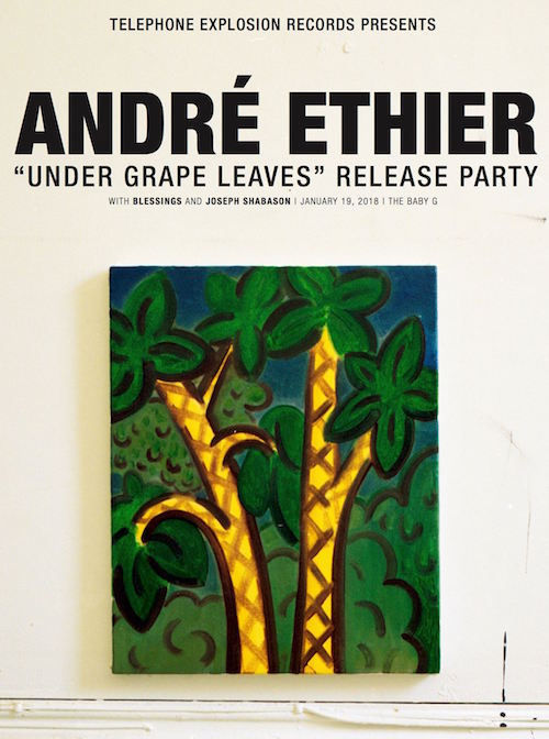 "André Ethier ""Under Grape Leaves"" launch @ The Baby G, Friday"