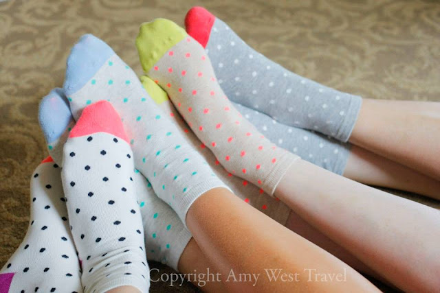 four friends and their socks