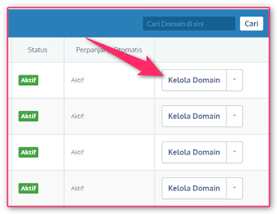 cara membuat sub domain dengan blogspot di idwebhost