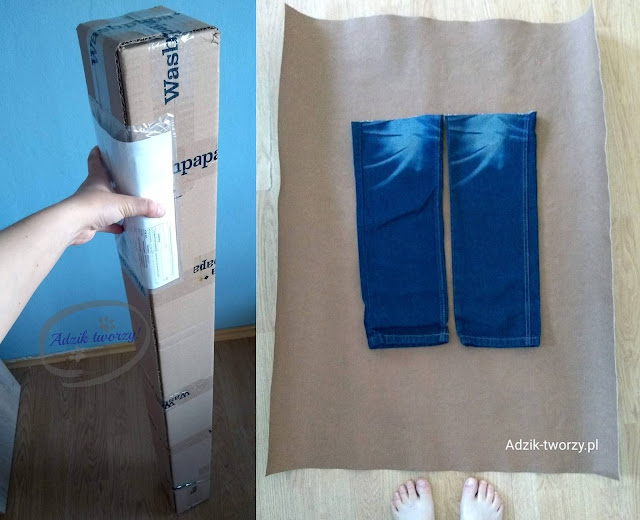 kurtka jeansowa DIY ze spodni i washpapy wyzwanie
