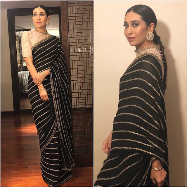 Karisma Kapoor in a Sabyasachi Sari