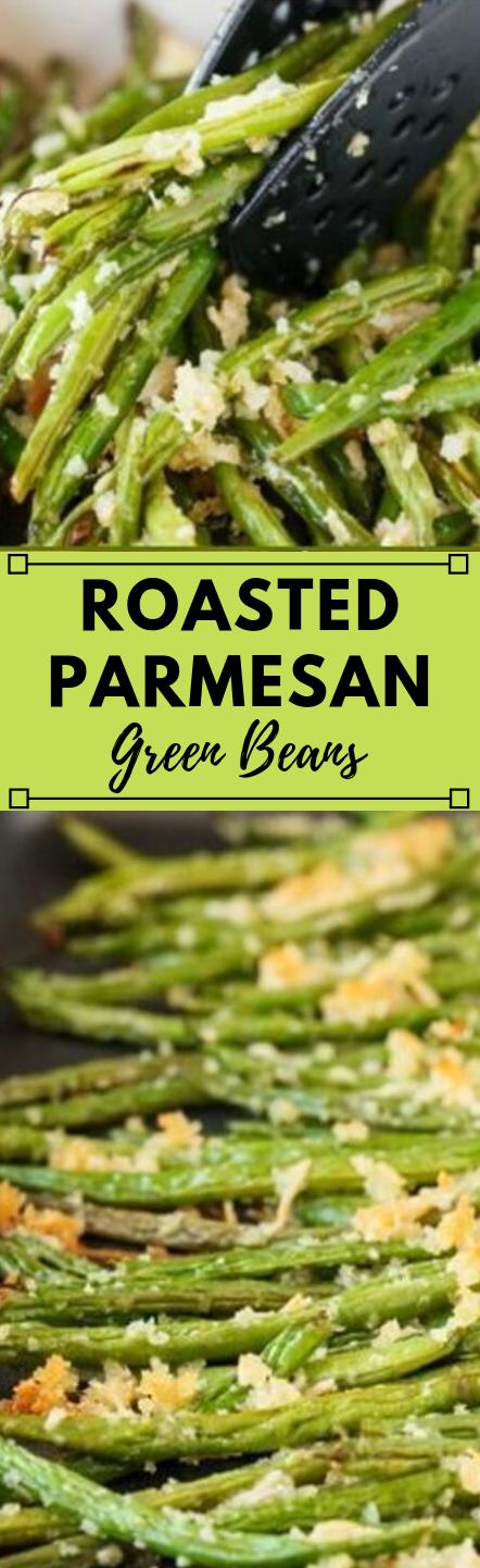 ROASTED PARMESAN GREEN BEANS #parmesan #roasted #vegetarian #food #easy