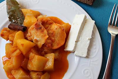 Baccalà in umido con patate. Ricetta contadina della cucina greca.