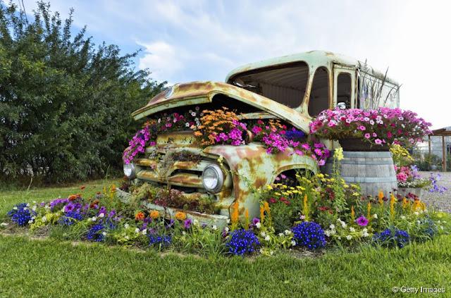 recup voiture jardinière
