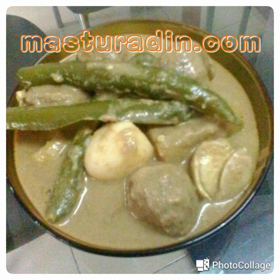 resepi bebola daging + telur puyuh masak kurma, bahan-bahan, cara-cara memasak, meatball cheese