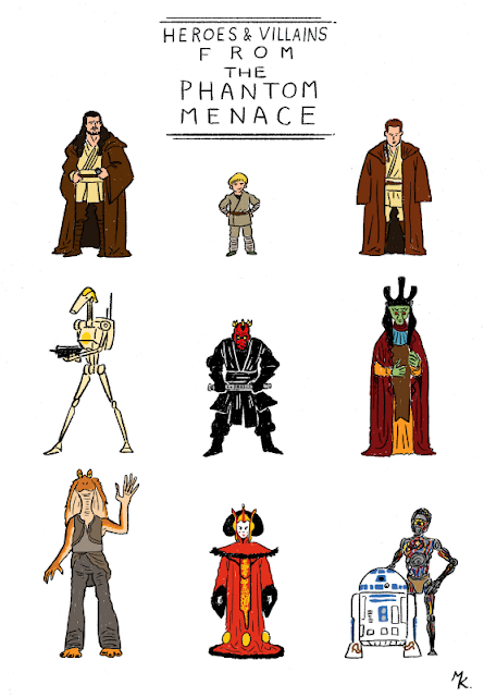HEROES & VILLAINS FROM THE PHANTOM MENACE
