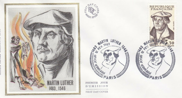 France 1983 Martin Luther FDC First Day Cover