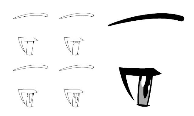 Tampilan sisi mata anime yang lelah