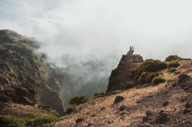 Majestatyczne góry Madery, mgła i romantyczna sesja zdjęciowa