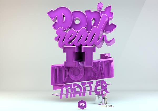 Mind Blowing and Creative 3D Typography Designs 2017