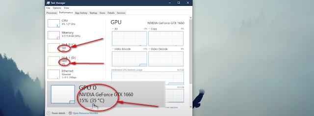 Hiện nhiệt độ GPU, phân biệt SSD hay HDD