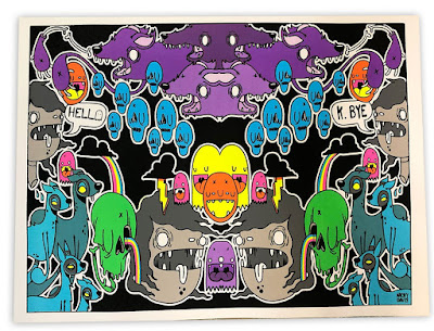 Nicky Davis Blacklight Screen Print
