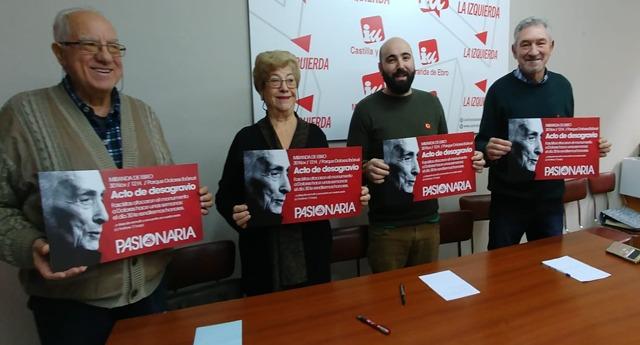 Miranda de Ebro en Burgos albergará un acto de desagravio a la figura de Dolores Ibárruri cuyo monumento fue mancillado