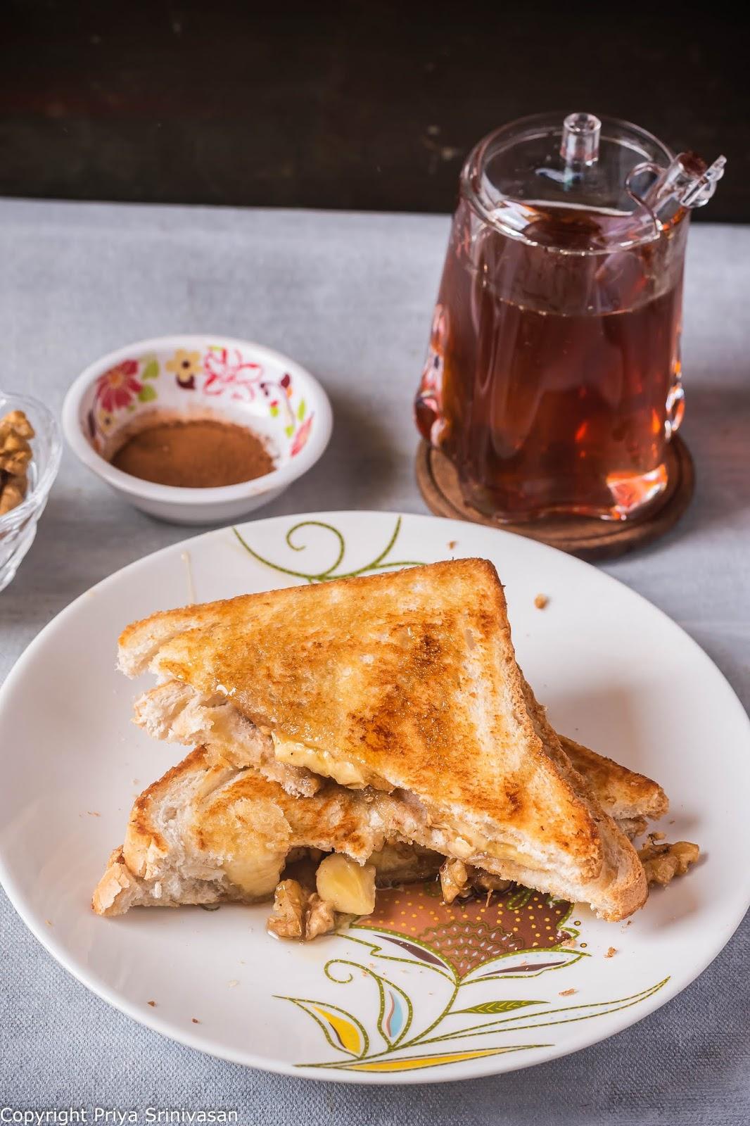 honey and nut sandwich
