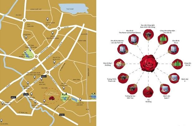 vị trí dự án the eden rose