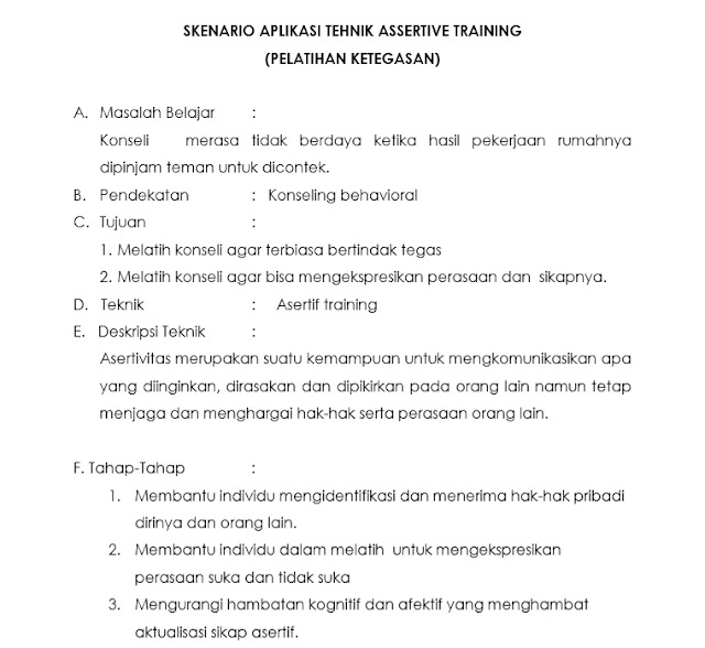 Teknik Asertif Training
