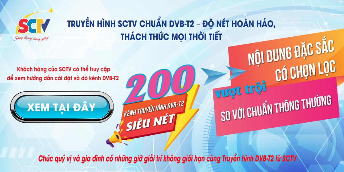 SCTV Ninh Bình - Đơn vị lắp đặt truyền hình cáp SCTV ở Ninh Bình