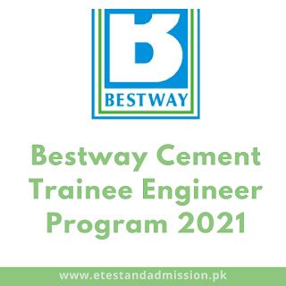 bestway cement trainee engineer program 2021