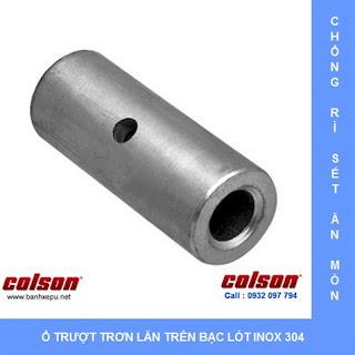 Bánh xe đẩy chịu nhiệt càng bánh xe inox 304 sử dụng ổ trơn lăn trên bạt lót bằng inox 304
