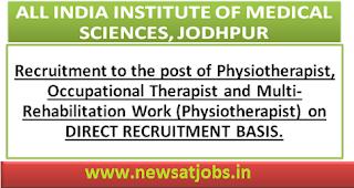 aiims+jodhpur+recruitment+2016