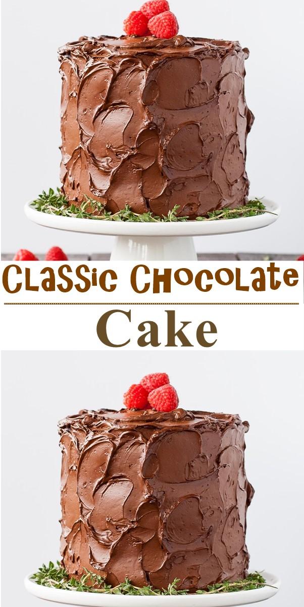 Classic Chocolate Cake #cakerecipes