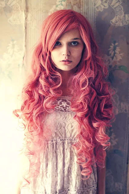 pink shade hairstyle