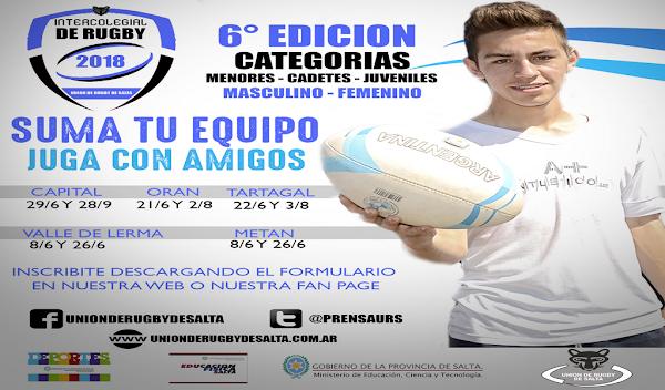 Salta: Torneo Intercolegial de Rugby 2018