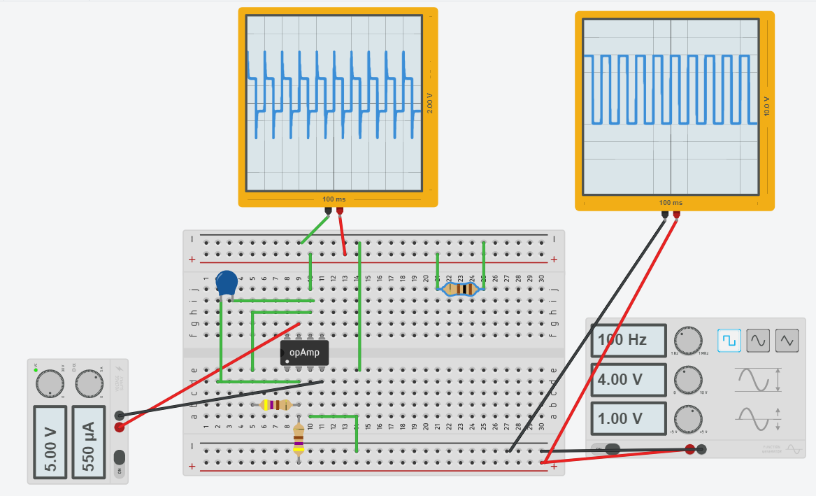 Mt Sac Engineering 44 Lab For David Pardo October 2017 Of The Op Circuit Is On Impedance Rc Series Diagram Adding A Resistance Load Between Vout And Ground Resulted In An Usual Wave Pattern Different Than Vin But Error Because Amp Was Not