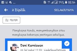 Cara Menghapus Semua Status Di Facebook