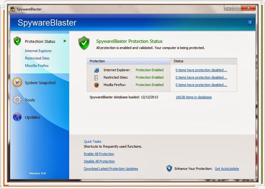 SpywareBlaster acabe com as falhas do seu Navegador