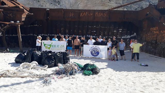 Δύτες της περιβαλλοντικής οργάνωσης «WE DIVE WE CLEAN»  καθάρισαν το Ναυάγιο Ζακύνθου