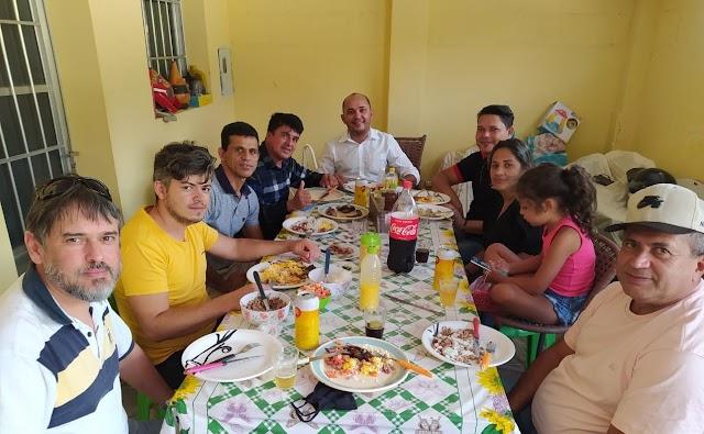 Vereador Deto de Xucuru participa do primeiro CRAS Volante e reúne-se em almoço com vereadores