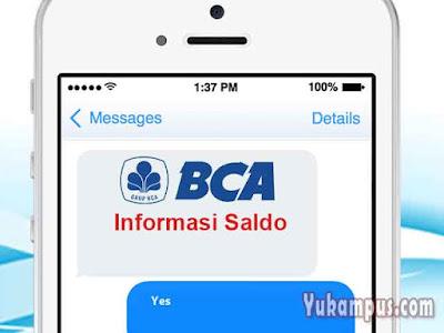 cek saldo sms banking bca